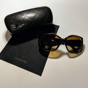 Authentic Chanel 5227 H Tortoise Shell Sunglasses